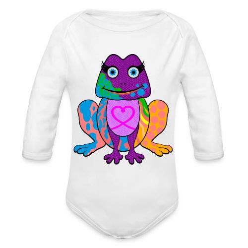 I heart froggy - Organic Long Sleeve Baby Bodysuit