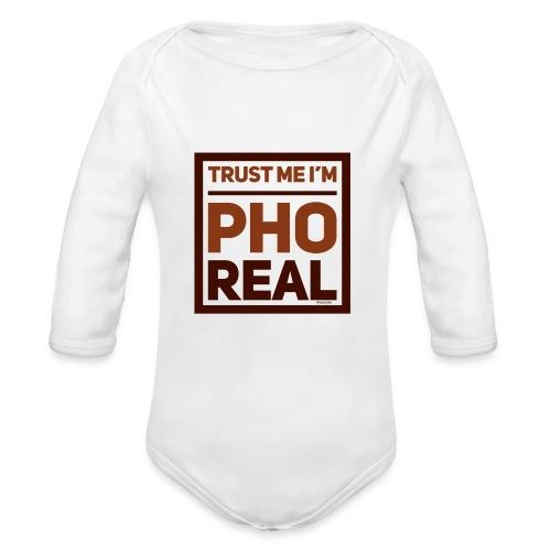 trust me i'm Pho Real - Organic Long Sleeve Baby Bodysuit