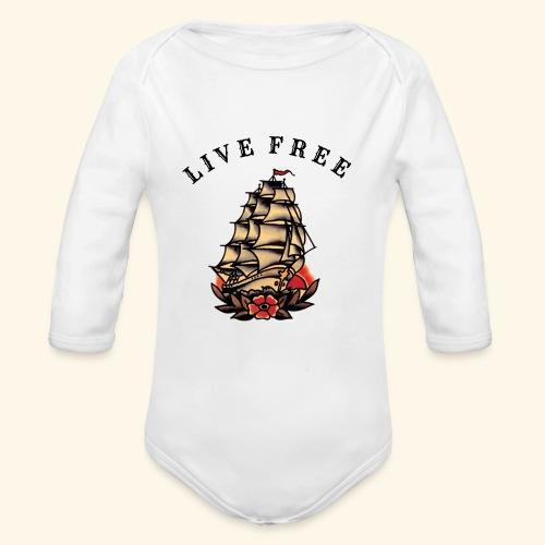LIVE FREE - Organic Long Sleeve Baby Bodysuit
