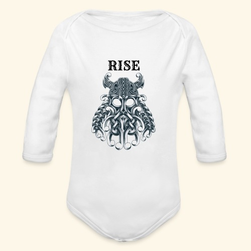 RISE CELTIC WARRIOR - Organic Long Sleeve Baby Bodysuit