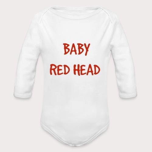 Baby RED Head - Organic Long Sleeve Baby Bodysuit