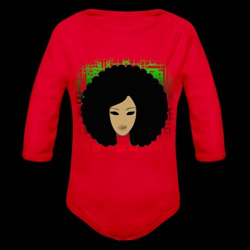 Afromatrix - Organic Long Sleeve Baby Bodysuit
