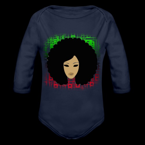 Afromatrix - Organic Long Sleeve Baby Bodysuit