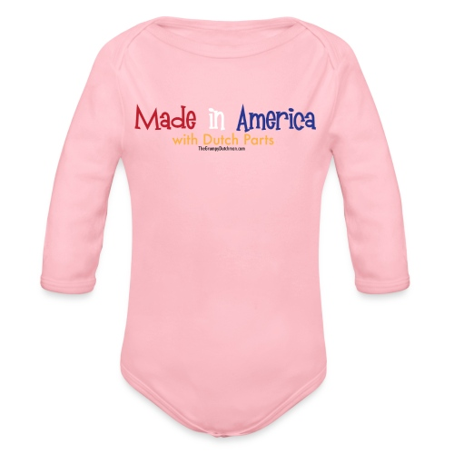 Dutch Parts colored lettering - Organic Long Sleeve Baby Bodysuit
