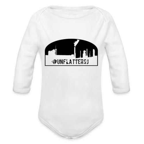 Unflatter Hashtag logo - Organic Long Sleeve Baby Bodysuit