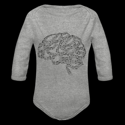 Sound of Mind | Audiophile's Brain - Organic Long Sleeve Baby Bodysuit