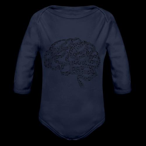 Sound of Mind | Audiophile's Brain - Organic Long Sleeve Baby Bodysuit