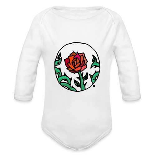 Rose Cameo - Organic Long Sleeve Baby Bodysuit