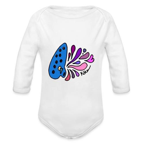 Mystical Ocarina - Organic Long Sleeve Baby Bodysuit