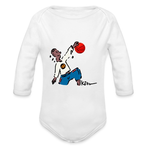 Basketball - Organic Long Sleeve Baby Bodysuit