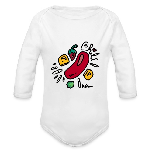 Chili - Organic Long Sleeve Baby Bodysuit
