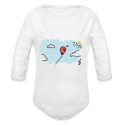 Balloon in Love - Organic Long Sleeve Baby Bodysuit
