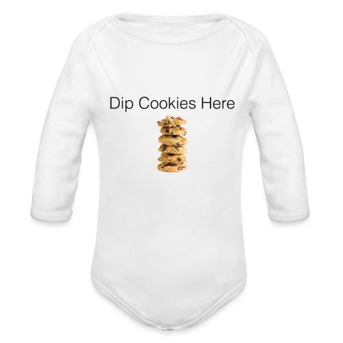 Dip Cookies Here mug - Organic Long Sleeve Baby Bodysuit
