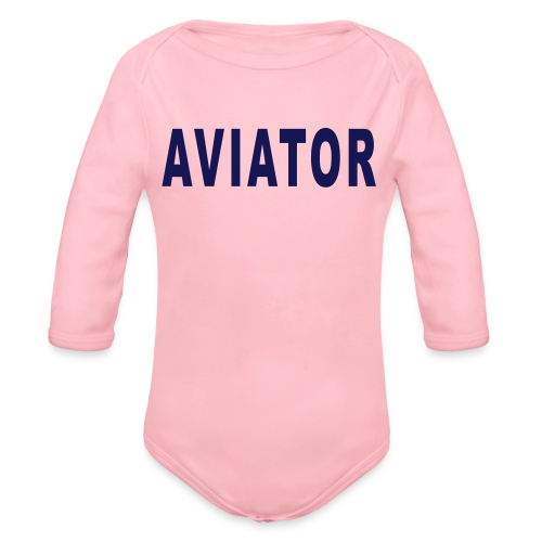 aviator simple - Organic Long Sleeve Baby Bodysuit