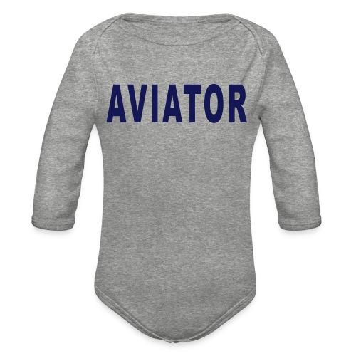 aviator simple - Organic Long Sleeve Baby Bodysuit