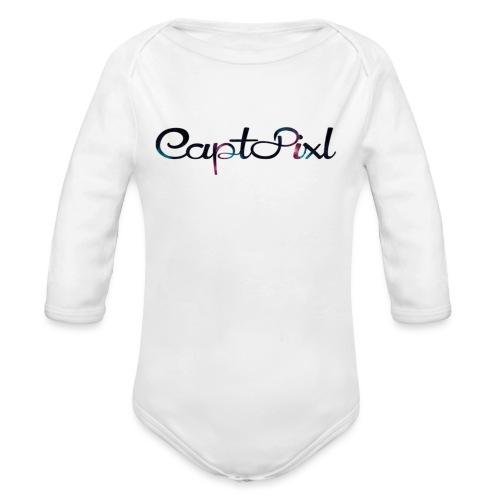 My YouTube Watermark - Organic Long Sleeve Baby Bodysuit