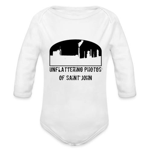 Unflatter SJ Full Logo - Organic Long Sleeve Baby Bodysuit
