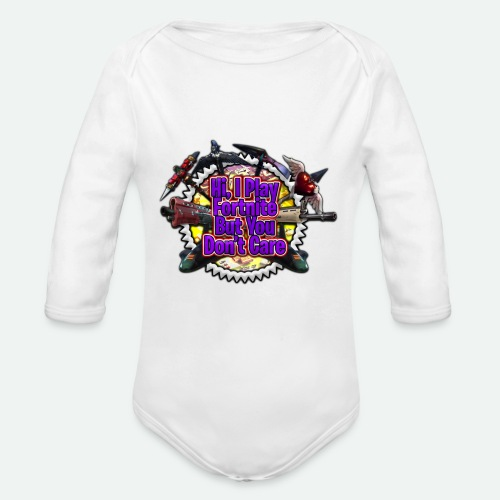 I Play Fortnut - Organic Long Sleeve Baby Bodysuit