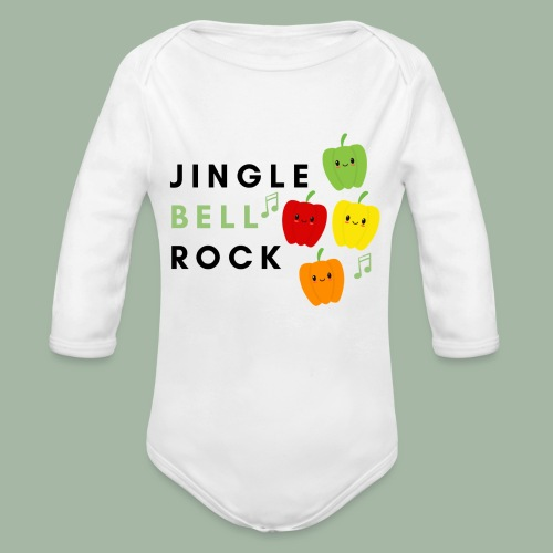 Jingle Bell Rock - Organic Long Sleeve Baby Bodysuit