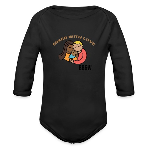 mixed with love t-shirt 4 - Organic Long Sleeve Baby Bodysuit