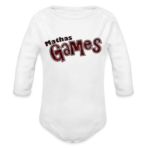 TShirt Textonly png - Organic Long Sleeve Baby Bodysuit