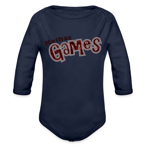 TShirt Textonly png - Organic Long Sleeve Baby Bodysuit