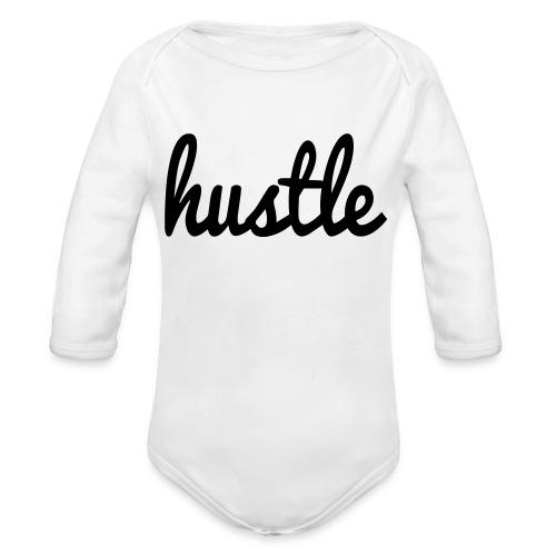 hustle vector - Organic Long Sleeve Baby Bodysuit