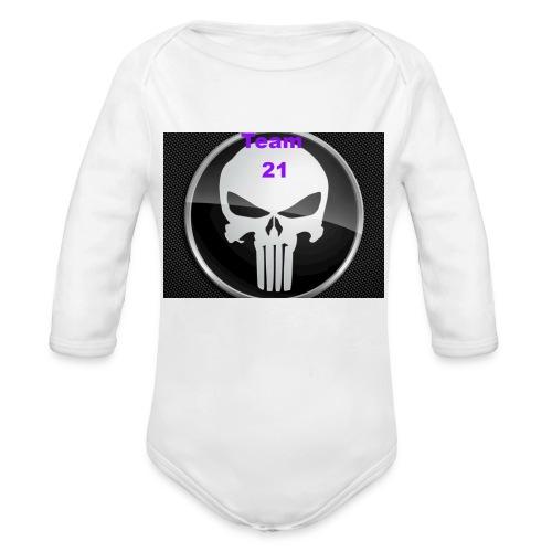 Team 21 white - Organic Long Sleeve Baby Bodysuit