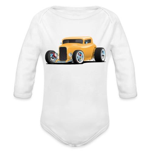 Classic American 32 Hotrod Car Illustration - Organic Long Sleeve Baby Bodysuit