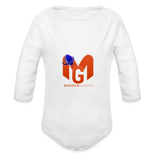 MaddenGamers MG Logo - Organic Long Sleeve Baby Bodysuit