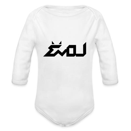evol logo - Organic Long Sleeve Baby Bodysuit