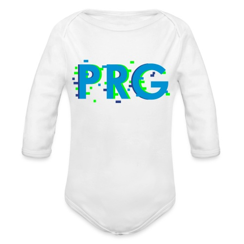 PRG distorted Neon libertarian Design - Organic Long Sleeve Baby Bodysuit