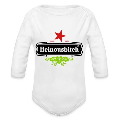 Heinousbitch - Organic Long Sleeve Baby Bodysuit