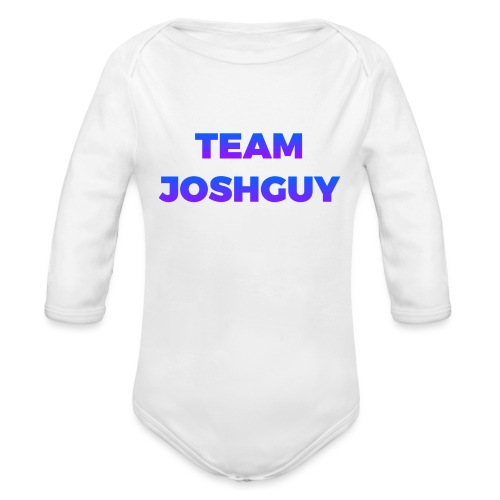 Team JoshGuy - Organic Long Sleeve Baby Bodysuit