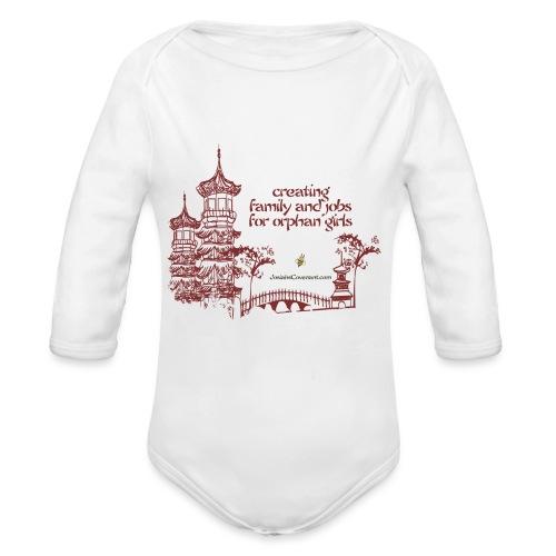 Josiah's Covenant - creating family - Organic Long Sleeve Baby Bodysuit