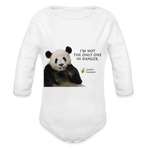Endangered Pandas - Josiah's Covenant - Organic Long Sleeve Baby Bodysuit