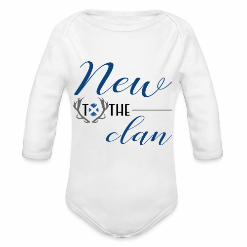 New To The Clan Boys Infant Design - Organic Long Sleeve Baby Bodysuit