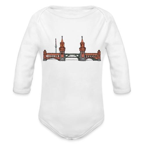 Oberbaum Bridge Berlin - Organic Long Sleeve Baby Bodysuit