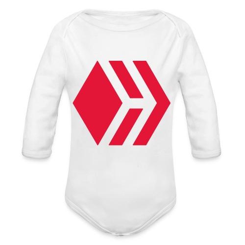 Hive logo - Organic Long Sleeve Baby Bodysuit