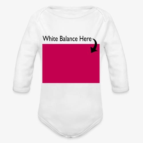 White Balance - Organic Long Sleeve Baby Bodysuit