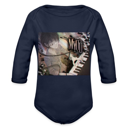 Dark Piano 1 - Organic Long Sleeve Baby Bodysuit