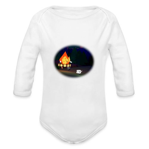 'Round the Campfire - Organic Long Sleeve Baby Bodysuit