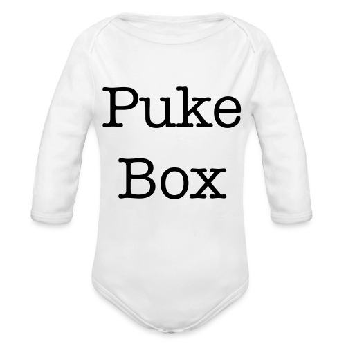 Puke Box Baby Shower Gift - Organic Long Sleeve Baby Bodysuit