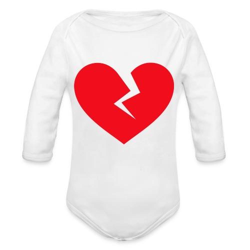 Broken Heart - Organic Long Sleeve Baby Bodysuit