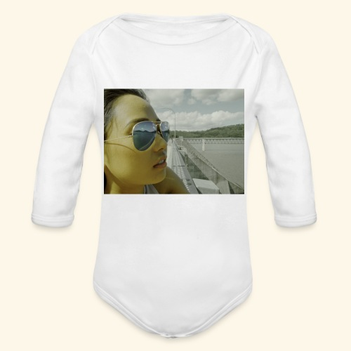ray band 50s - Organic Long Sleeve Baby Bodysuit