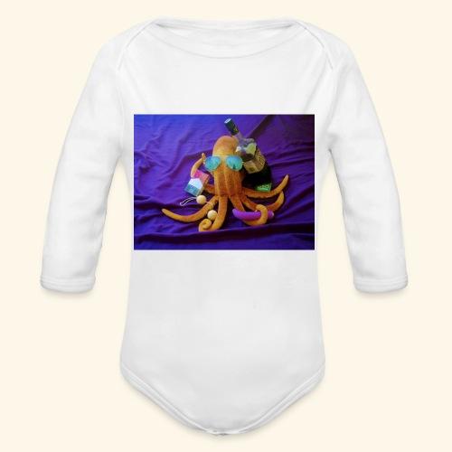 Mr squiddy - Organic Long Sleeve Baby Bodysuit