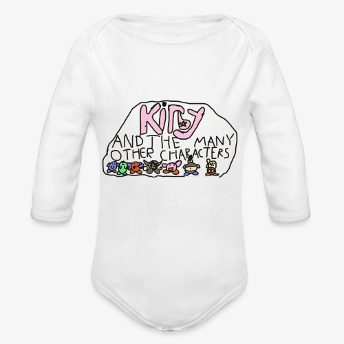 Kirby and the many other characters - Organic Long Sleeve Baby Bodysuit