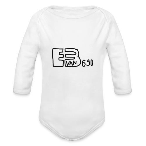 Evan3690 Logo - Organic Long Sleeve Baby Bodysuit