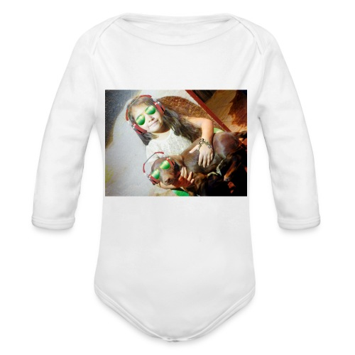marilyn's merch - Organic Long Sleeve Baby Bodysuit