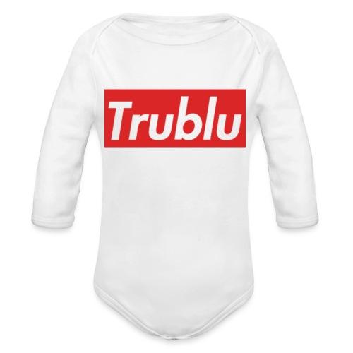 Trublu Red Box Logo(Big) - Organic Long Sleeve Baby Bodysuit